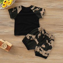 Load image into Gallery viewer, T-shirt+Camouflage Shorts Set