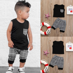 Sleeveless Tank W/Plaid Shorts Summer Set Summer