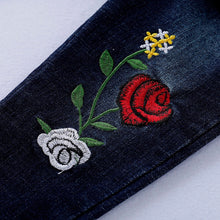 Load image into Gallery viewer, Floral Embroidery Denim Set