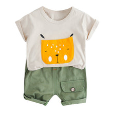 Load image into Gallery viewer, Cute Cartoon Shirt  W/Solid Shorts Set