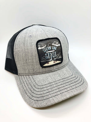 Stern Line Stout Snap Back Hat with 3 Daughters Logo