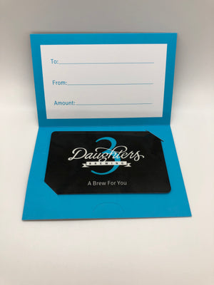 Gift Card - 3 Daughters Brewing ($10, $25, $50, $100) FREE SHIPPING!