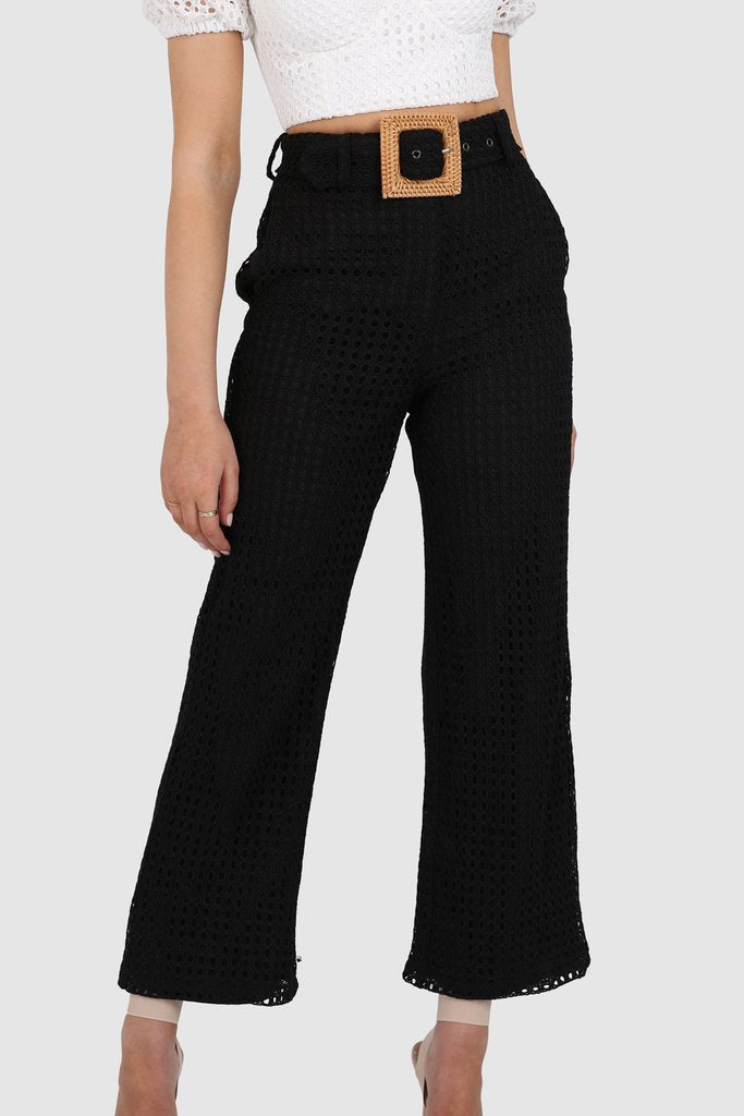 AINSLEY PANTS || BLACK