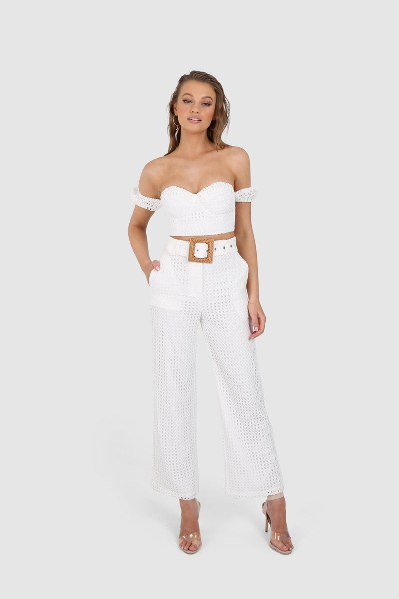 AINSLEY PANTS || WHITE