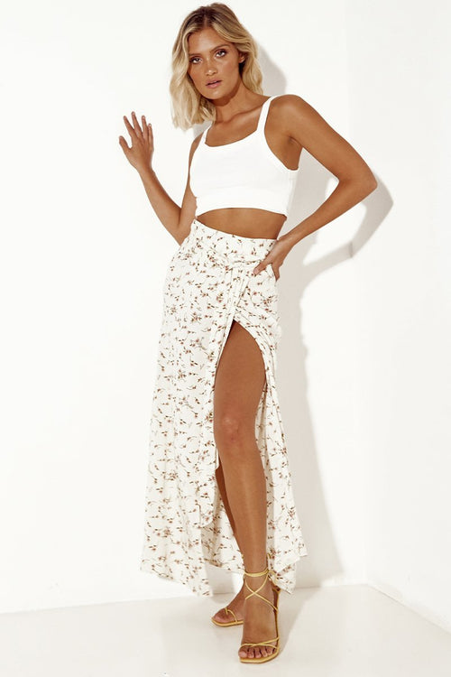 SOPHIE WRAP SKIRT || CREAM FLORAL
