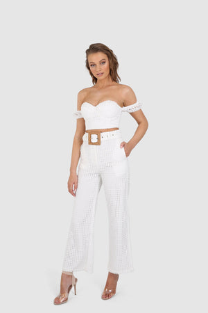 AINSLEY CROP || WHITE