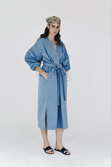 Blue windrunner coat