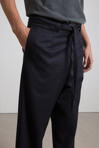 Charcoal cashmere trousers
