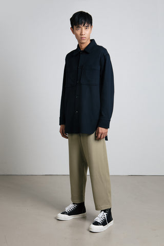 Navy heavy jersey overshirt