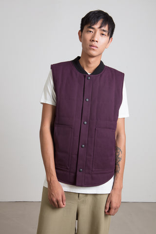 Eggplant quilted vest