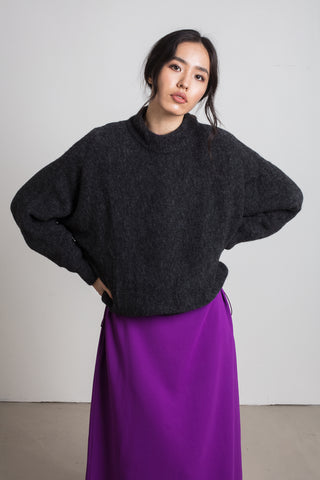 Dark grey alpaca jumper