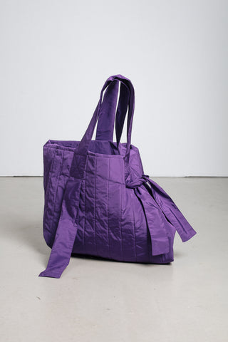 Violet quilted tote bag