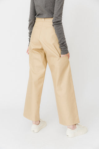 Beige Wide Pants
