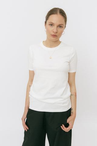 White crewneck t-shirt