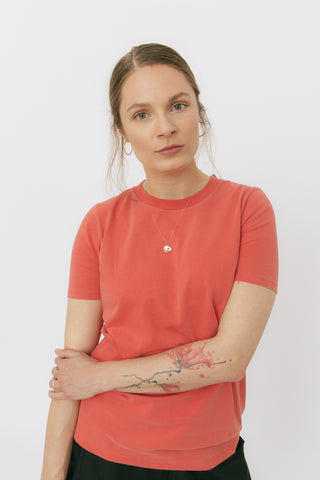 Poppy red crewneck t-shirt