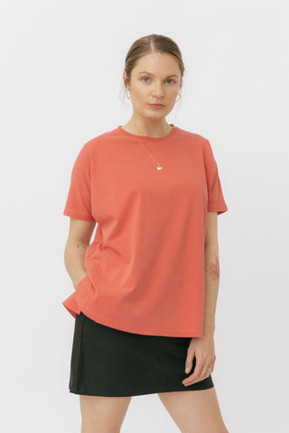 Poppy red oversized t-shirt