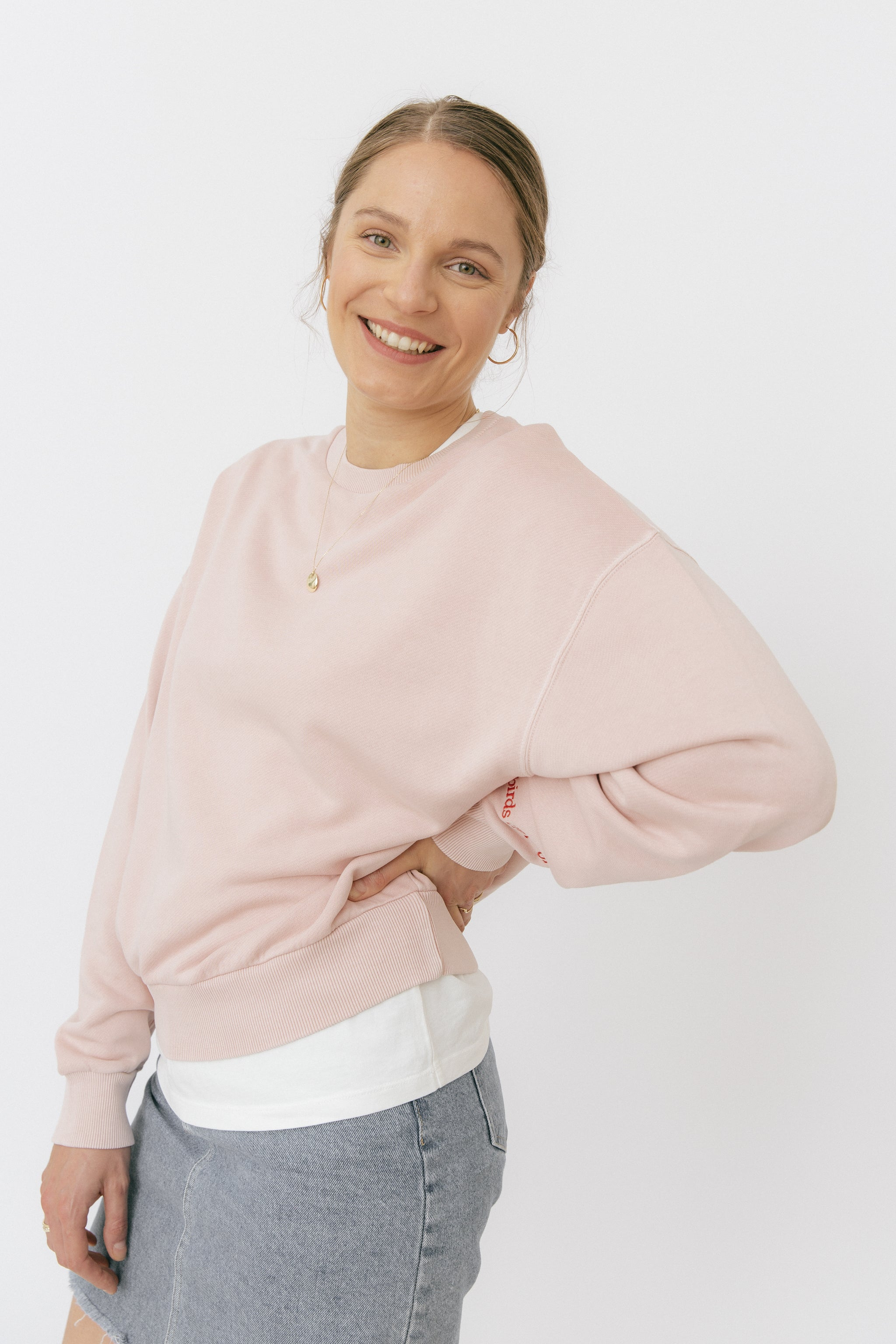 Rose crop sweatshirt