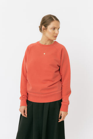 Poppy red raglan sweatshirt
