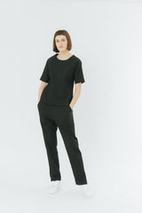 Black relaxed pants