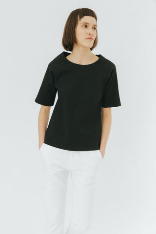 Black relaxed top