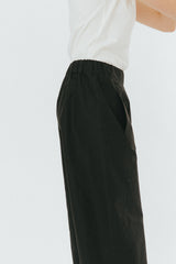 Black wide cropped pants