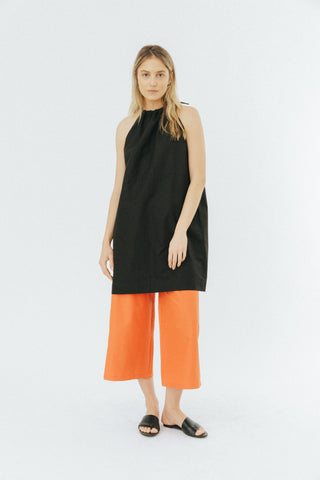 Orange wide cropped pants