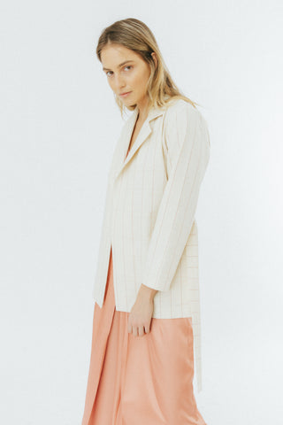 Beige checked blazer