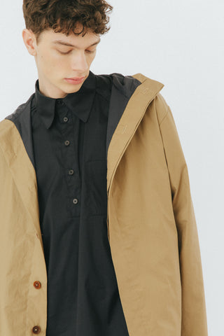 Sand cotton parka
