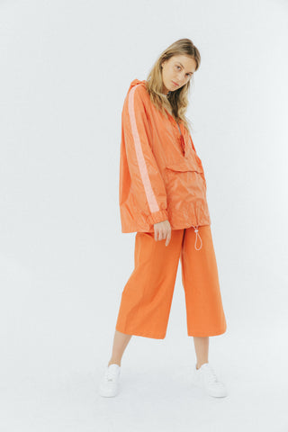 Orange unisex windrunner jacket