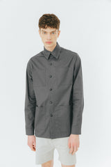 Faded blue overshirt