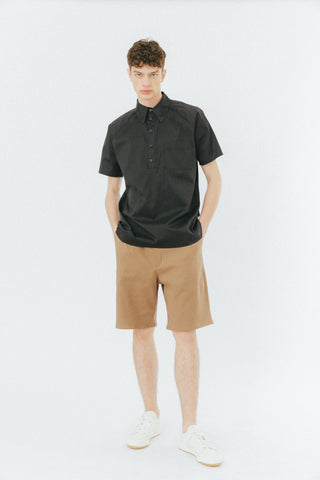 Camel baggy shorts