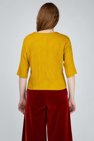 Amber yellow viscose tee