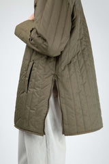 Olive green quilted anorak
