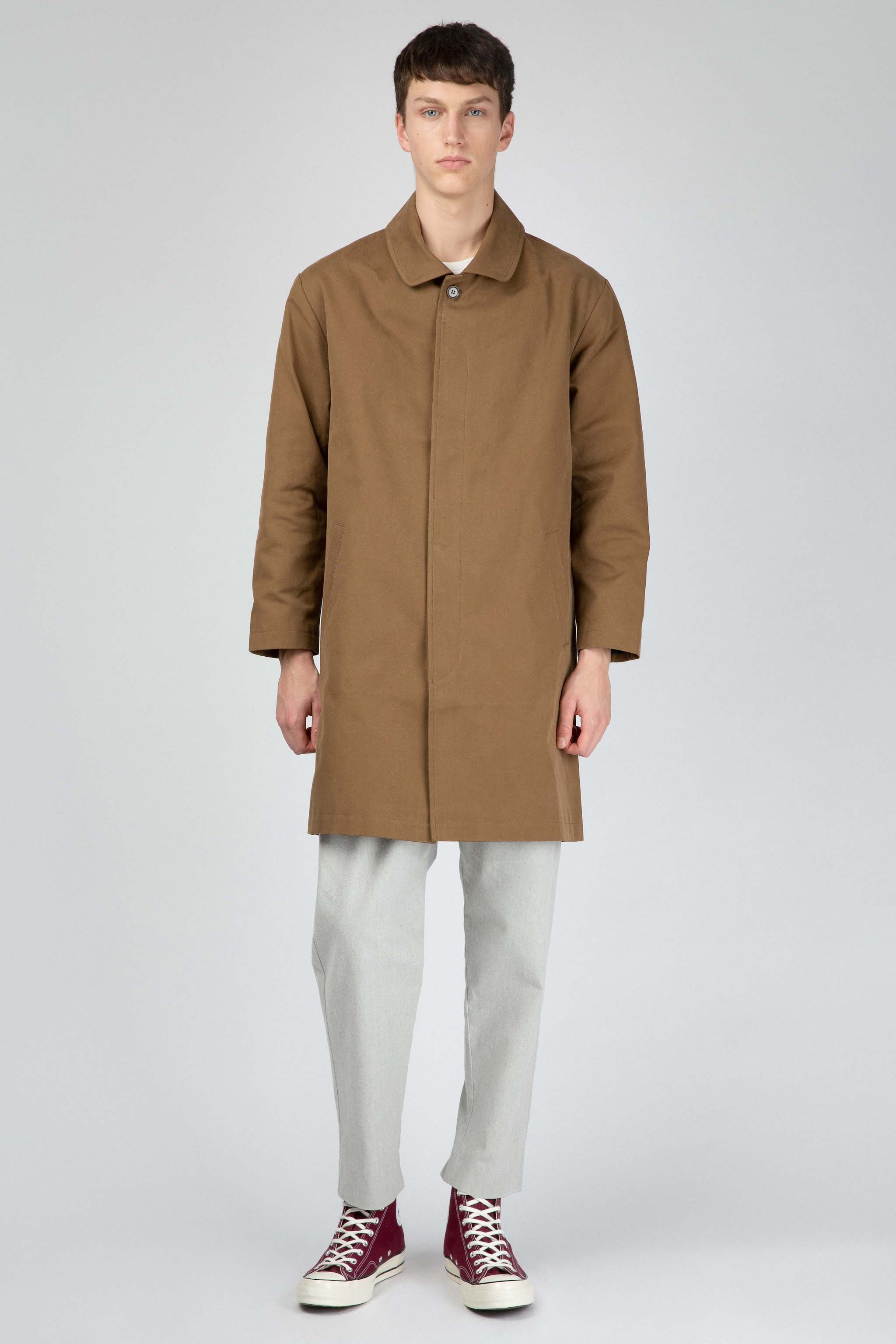 Olive cotton coat