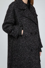 Dark grey virgin wool oversize coat