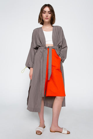 Grey windrunner coat