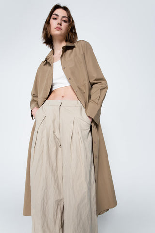 Sand wide trousers