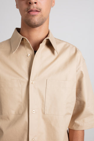 Beige short sleeve shirt