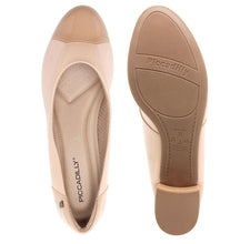 Load image into Gallery viewer, Bunion Low Heel Elastane Pumps Beige - 141086