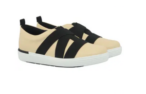 Leather Tennis Shoes in Beige - AC5109