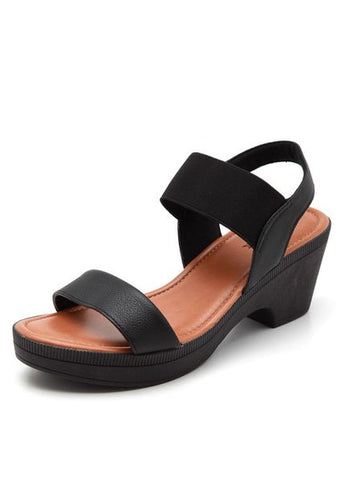 Napa Clog w/Strap in Black - AA3404