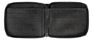 Leather Wallet in Black-C001