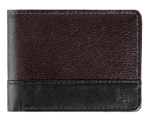 Load image into Gallery viewer, Leather Wallet in Black&Brown-C009