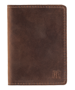 Leather Wallet in Brown-C010