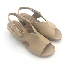 Load image into Gallery viewer, Soft Step Line Wedge Sandal with Velcro in Tan   - 575004TN