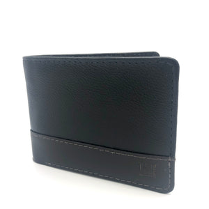 Leather Wallet in Black&Brown-C009