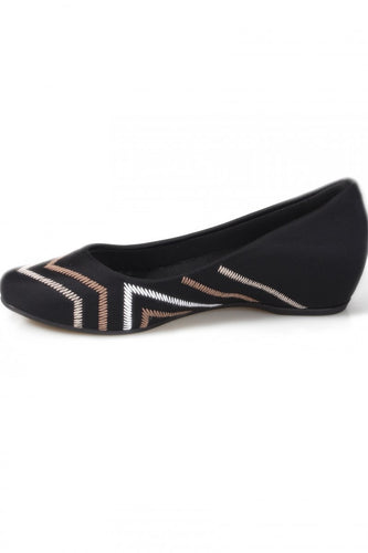 Striped Lycra/Neoprene Casual Diabetic Flat Striped  - N2281DB