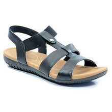 Load image into Gallery viewer, Leather Sandal in Black - R1834