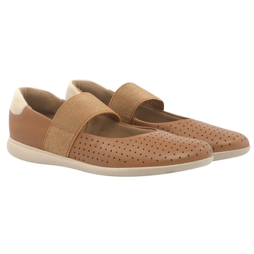 Casual Leather Sleep on in Camel - AC5402