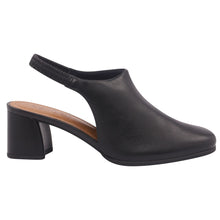 Load image into Gallery viewer, Leather low heels slingback in Black - AC3604
